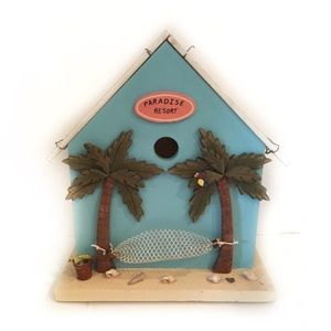 New Handcrafted Miniature Indoor Beach Bird House
